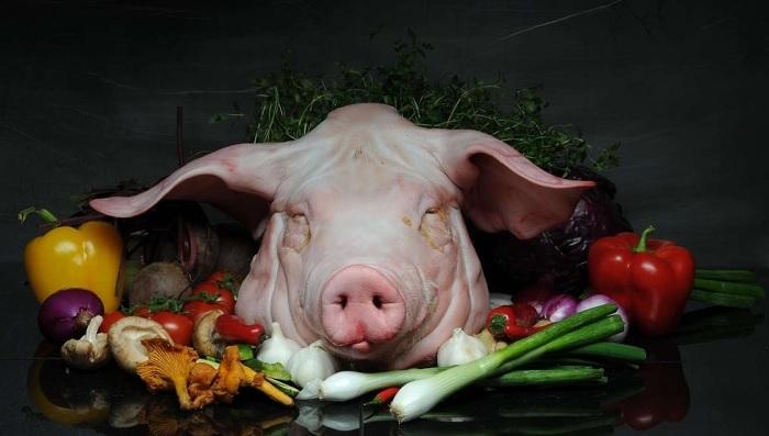 овощи с головой