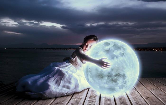 луна и сон ребенка