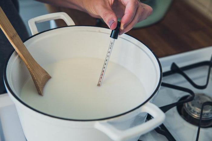 измерение температуры молока