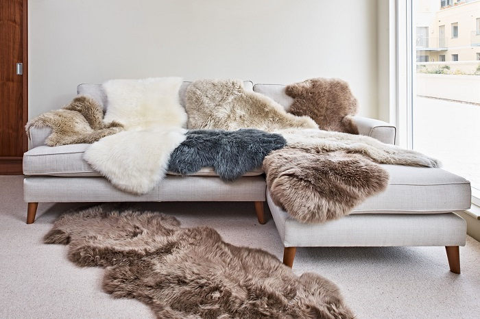 овчина на мебели