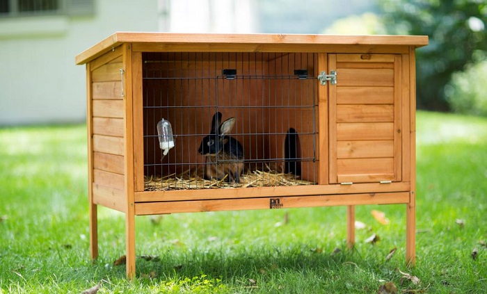 Домик для кролика в клетку