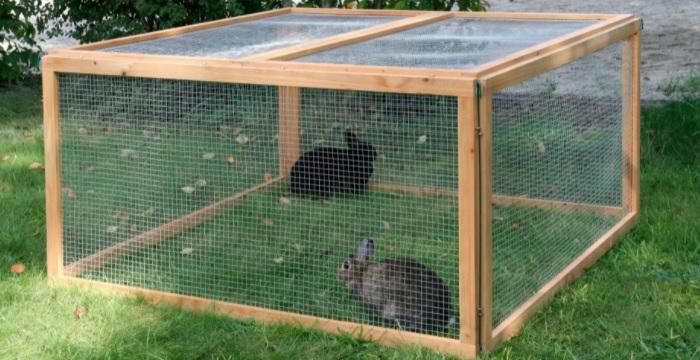 самодельный вольер для кролика